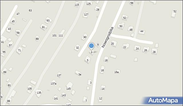 Rzeszów, Nowogrodzka, 7, mapa Rzeszów
