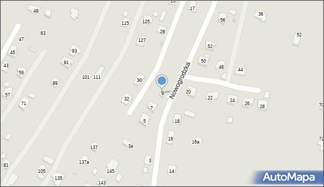 Rzeszów, Nowogrodzka, 9, mapa Rzeszów