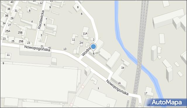 Sosnowiec, Nowopogońska, 5, mapa Sosnowca