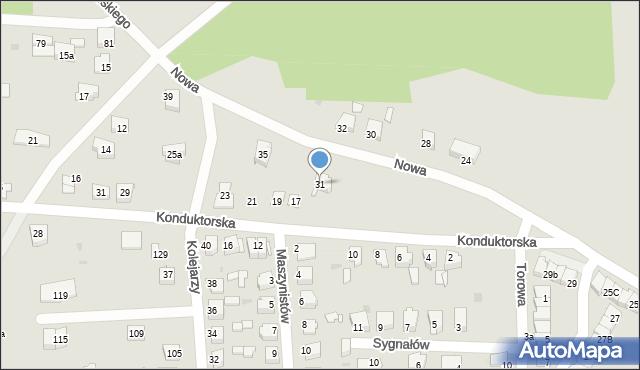 Tarnowskie Góry, Nowa, 31, mapa Tarnowskie Góry