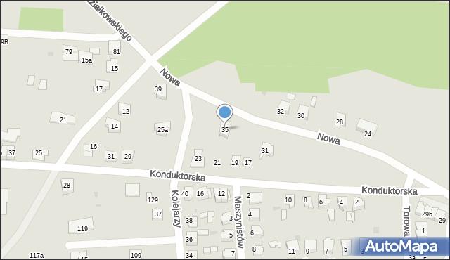 Tarnowskie Góry, Nowa, 35, mapa Tarnowskie Góry