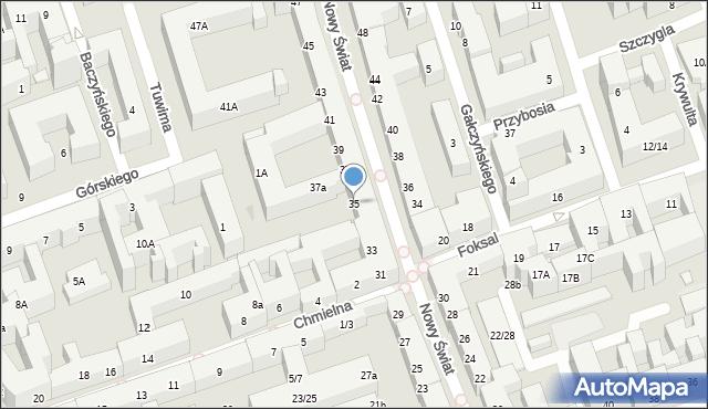 Warszawa, Nowy Świat, 35, mapa Warszawy