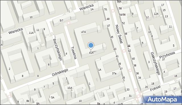 Warszawa, Nowy Świat, 41A, mapa Warszawy