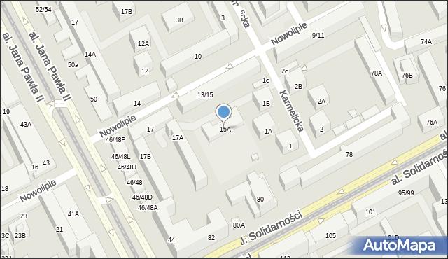Warszawa, Nowolipie, 15A, mapa Warszawy