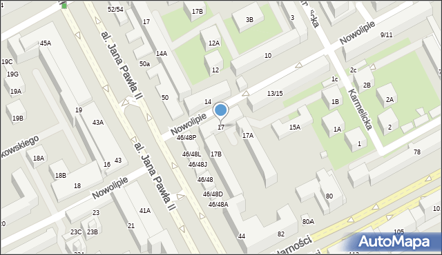 Warszawa, Nowolipie, 17, mapa Warszawy