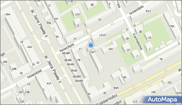 Warszawa, Nowolipie, 17A, mapa Warszawy