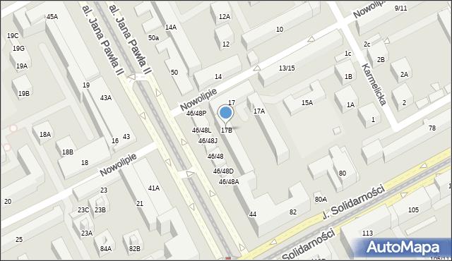 Warszawa, Nowolipie, 17B, mapa Warszawy