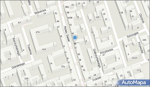 Warszawa, Nowy Świat, 44, mapa Warszawy