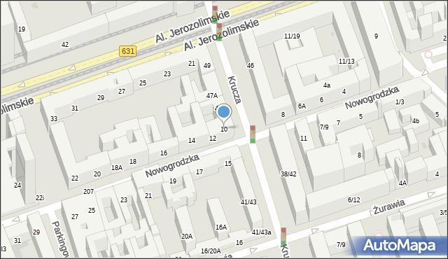 Warszawa, Nowogrodzka, 10, mapa Warszawy
