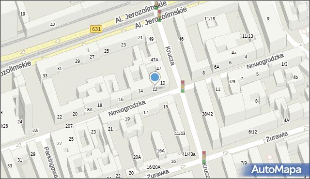 Warszawa, Nowogrodzka, 12, mapa Warszawy