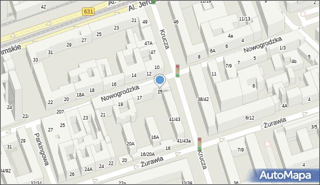 Warszawa, Nowogrodzka, 15, mapa Warszawy