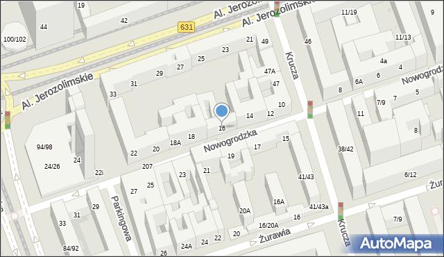 Warszawa, Nowogrodzka, 16, mapa Warszawy
