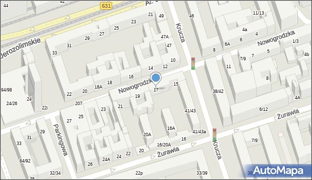Warszawa, Nowogrodzka, 17, mapa Warszawy