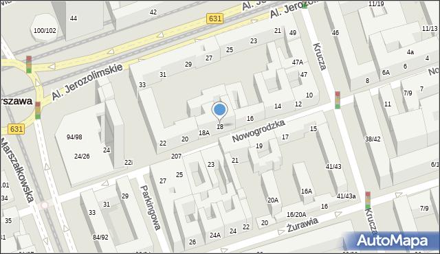Warszawa, Nowogrodzka, 18, mapa Warszawy