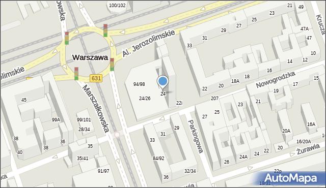 Warszawa, Nowogrodzka, 24, mapa Warszawy