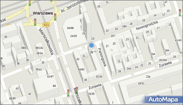 Warszawa, Nowogrodzka, 29, mapa Warszawy