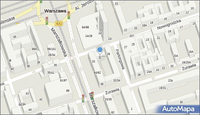 Warszawa, Nowogrodzka, 31, mapa Warszawy