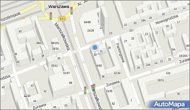 Warszawa, Nowogrodzka, 33, mapa Warszawy
