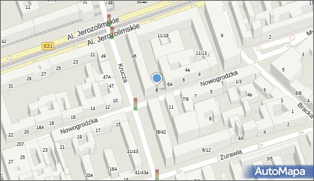 Warszawa, Nowogrodzka, 8, mapa Warszawy