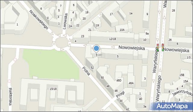 Warszawa, Nowowiejska, 7, mapa Warszawy