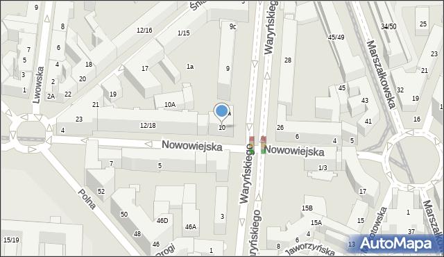 Warszawa, Nowowiejska, 10, mapa Warszawy