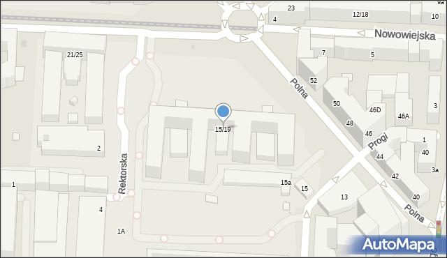 Warszawa, Nowowiejska, 15/19, mapa Warszawy