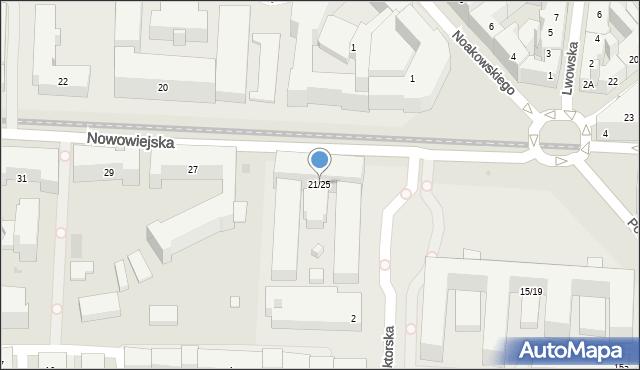 Warszawa, Nowowiejska, 21/25, mapa Warszawy