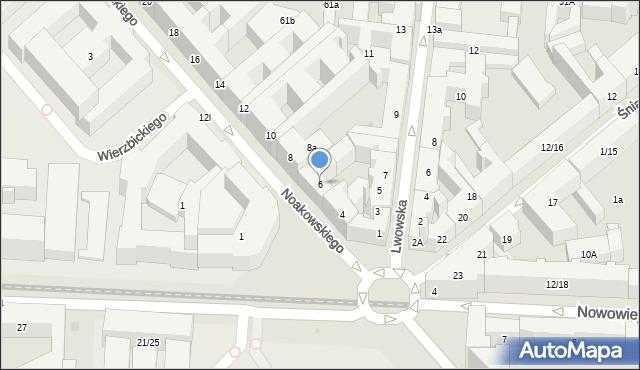 Warszawa, Noakowskiego Stanisława, 6, mapa Warszawy