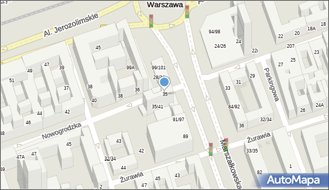 Warszawa, Nowogrodzka, 35, mapa Warszawy