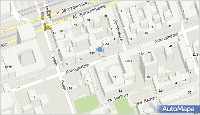 Warszawa, Nowogrodzka, 50, mapa Warszawy