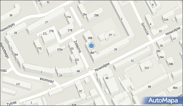 Warszawa, Nowolipie, 26A, mapa Warszawy