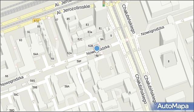 Warszawa, Nowogrodzka, 59, mapa Warszawy