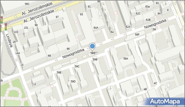 Warszawa, Nowogrodzka, 59G, mapa Warszawy