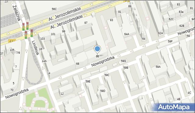 Warszawa, Nowogrodzka, 66, mapa Warszawy