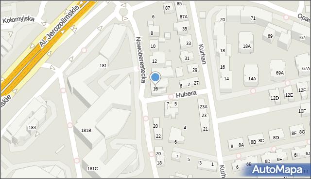 Warszawa, Nowoberestecka, 16, mapa Warszawy