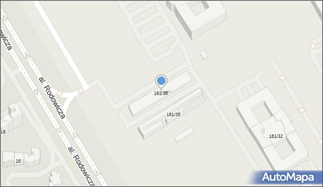 Warszawa, Nowoursynowska, 161/36, mapa Warszawy