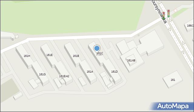 Warszawa, Nowoursynowska, 161C/46, mapa Warszawy