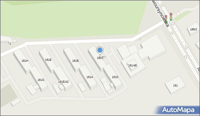 Warszawa, Nowoursynowska, 161C, mapa Warszawy