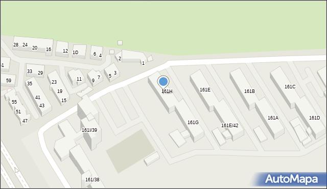 Warszawa, Nowoursynowska, 161H/40, mapa Warszawy