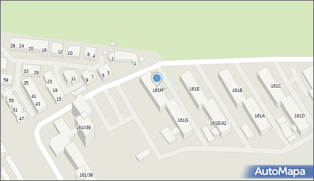 Warszawa, Nowoursynowska, 161H, mapa Warszawy