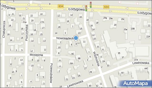 Warszawa, Nowosądecka, 4, mapa Warszawy