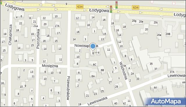 Warszawa, Nowosądecka, 6, mapa Warszawy
