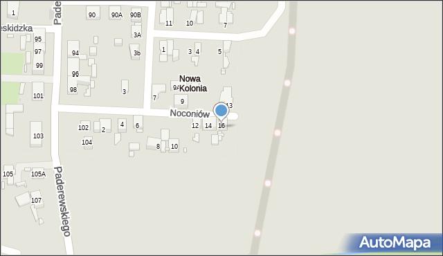 Zabrze, Noconiów, 16, mapa Zabrza