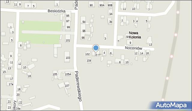 Zabrze, Noconiów, 2, mapa Zabrza