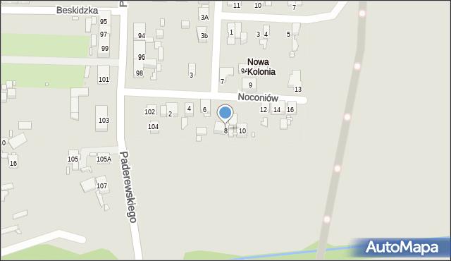 Zabrze, Noconiów, 8, mapa Zabrza
