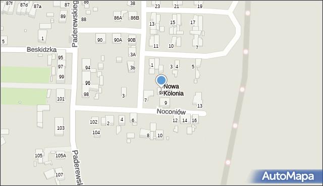 Zabrze, Noconiów, 9A, mapa Zabrza