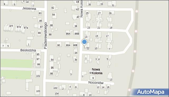 Zabrze, Nowa Kolonia, 12, mapa Zabrza