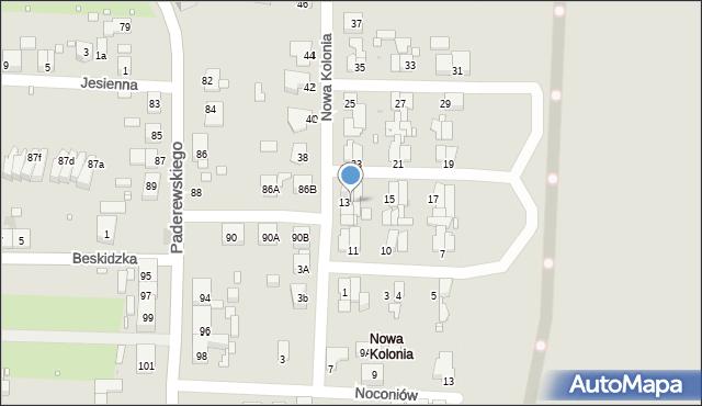 Zabrze, Nowa Kolonia, 14, mapa Zabrza