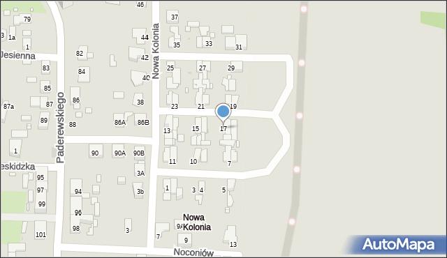 Zabrze, Nowa Kolonia, 17, mapa Zabrza