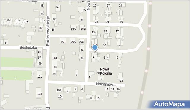 Zabrze, Nowa Kolonia, 2, mapa Zabrza